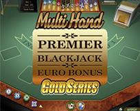 Premier Multi Hand Euro Bonus Blackjack Gold